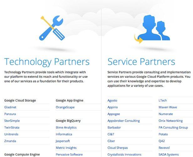 Google lance un programme de partenaires pour sa plateforme de cloud