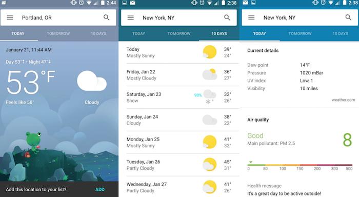 google met jour son application m t o sur android. Black Bedroom Furniture Sets. Home Design Ideas