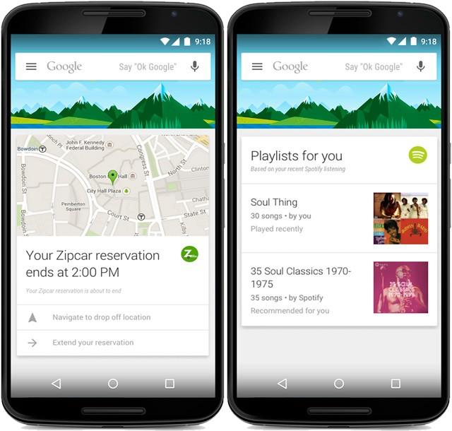 google now ajoute des cartes de 70 nouvelles apps. Black Bedroom Furniture Sets. Home Design Ideas