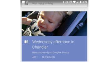 Google Now prêt à afficher des informations de Google+