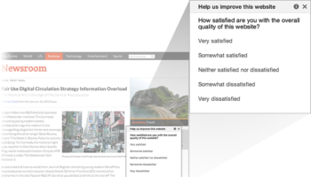 Google offre un moyen facile de mettre une enquête de satisfaction sur votre site