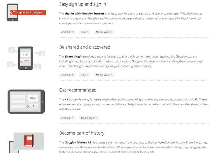 Google ouvre une plateforme Google+ pour mobile avec un SDK iOS et Android