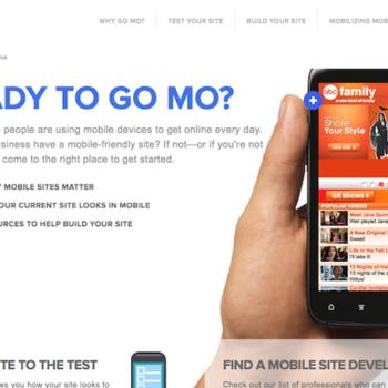 Google part à la conquête du développement Web mobile – Site Go Mo
