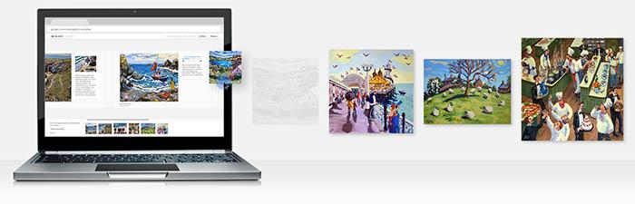 Importez facilement des images, des vidéos et des fichiers audio pour créer des expositions en ligne