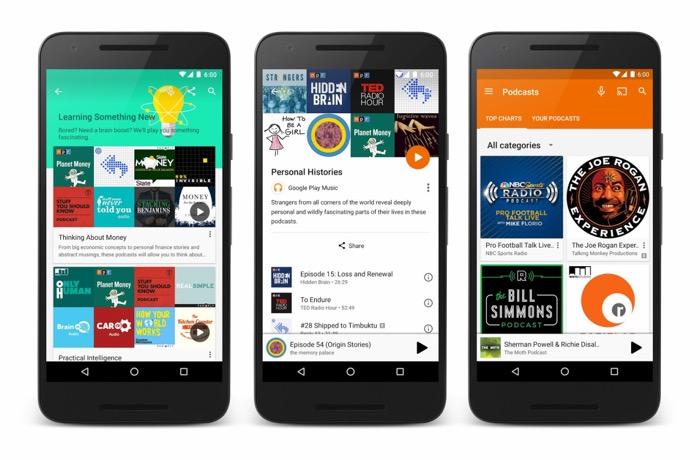 Google pousse enfin les podcasts sur Google Play Musique
