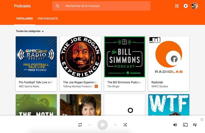 Actuellement disponible en France que sur la version Web de Google pousse enfin les podcasts sur Google Play Musique