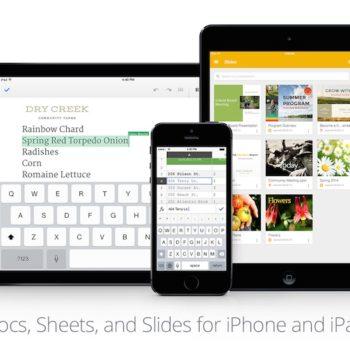 Google pousse Slides sur iOS, et met à jour Docs et Sheets