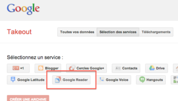 Rendez-vous sur Google Takeout pour sauvegarder tous vos flux RSS