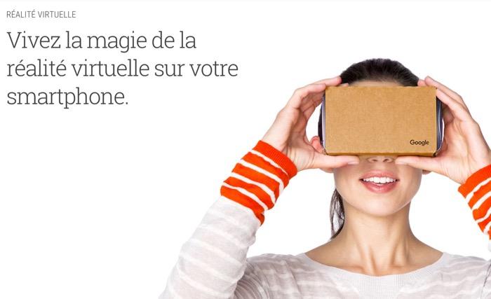 Google consacre une section entière de sa boutique en ligne à la réalité virtuelle