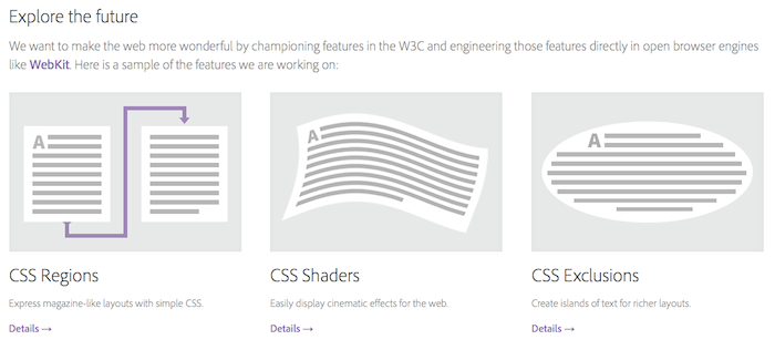 html.adobe.com : Une plateforme Adobe & HTML – Web Standards