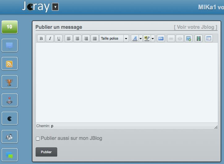 Jcray, un réseau social de microblogging et de social-gaming. Et si on