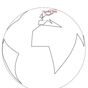 Un globe terrestre en rotation récupérant votre géolocalisation