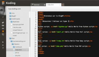 Koding bêta : Découvrez la fonctionnalité Develop / Apps