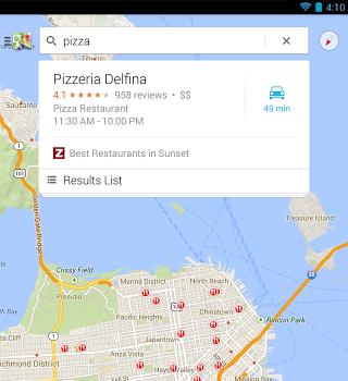 Maps pour Android a été totalement relooké