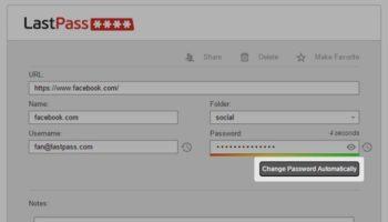LastPass : changement automatique des mots de passe