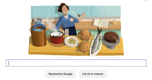 Le centenaire de la naissance de Julia Child en Google doodle du jour