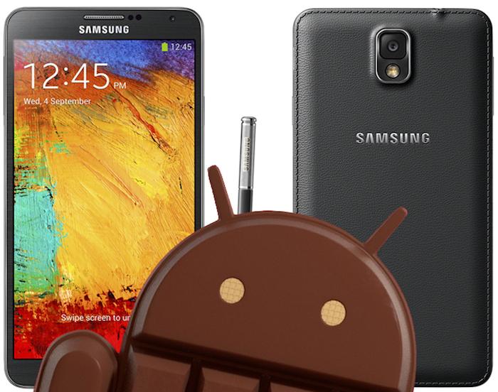 Le déploiement de Android 4.4 sur le Galaxy Note 3 commence