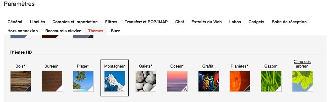 Le nouveau GMail est arrivé : thèmes HD, meilleure densité, recherche et navigation - Nouveaux thèmes HD