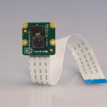 Module caméra de 8 mégapixels du Raspberry Pi en PCB vert