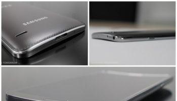Le Samsung Galaxy Round pose dans une publicité