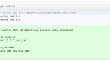 Le serveur Web se met à jour pour tenir compte du paramètre Do Not Track d