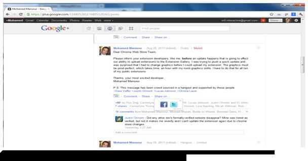 Les acteurs du Web en ont parlé [#16] – 10 extensions pour Google+