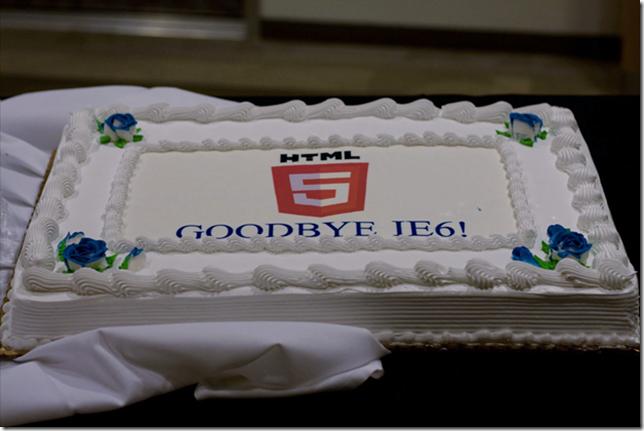 Les américains vont dire adieu à IE6, les français aussi... - Gâteau fêter la fin d