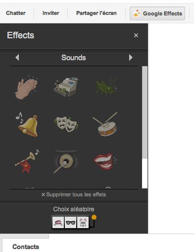 Les effets sonores (applaudissements, rires, ...) arrivent dans les Hangouts Google+