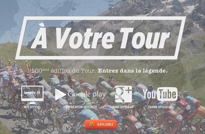 À Votre Tour est un nouveau site interactif de Google dédié au Tour de France