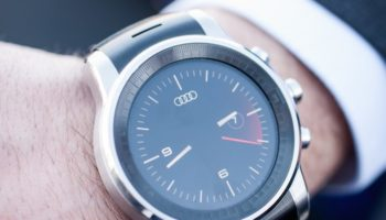 LG G Watch sous webOS : watchface Audi