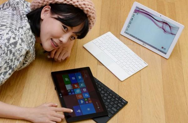 lg tab book duo une tablette windows 2 en 1. Black Bedroom Furniture Sets. Home Design Ideas