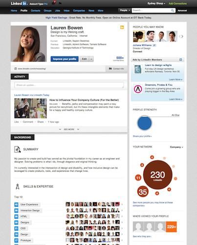 LinkedIn annonce un nouveau profil pour son profil !