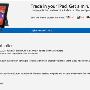 Marre de votre iPad ? Microsoft veut que vous l