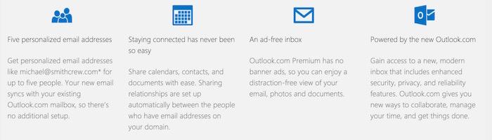 Fonctionnalités de Outlook Premium