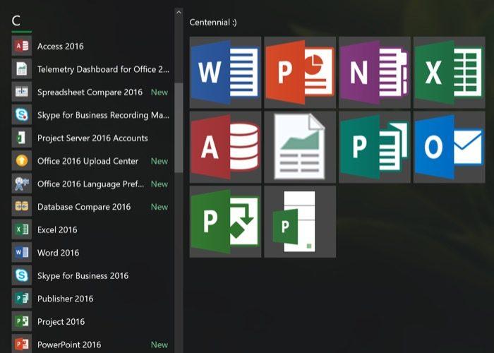 Microsoft Office 2016 arrive sur le Windows Store