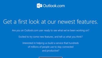 Microsoft Outlook se prépare à faire peau neuve : inscrivez-vous !