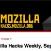 Mozilla Hacks Weekly : cette série d