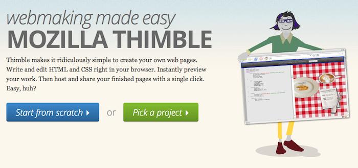 Mozilla Thimble rend la conception de page Web simple - Thimble officiellement lancé par Mozilla