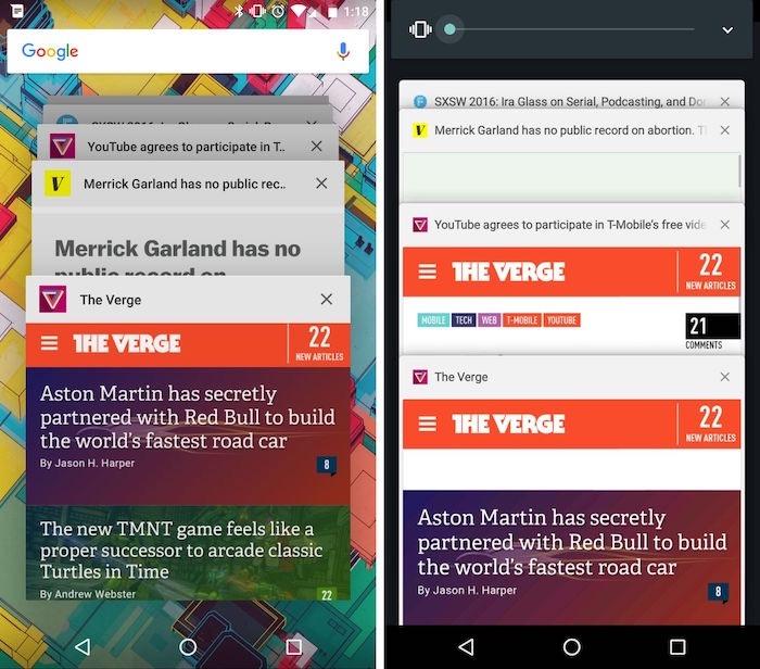 Le multitâche Android ne fait plus coexister les apps et les onglets Chrome par défaut