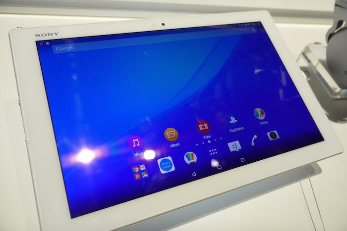 Prise en main de la Sony Xperia Z4 Tablet