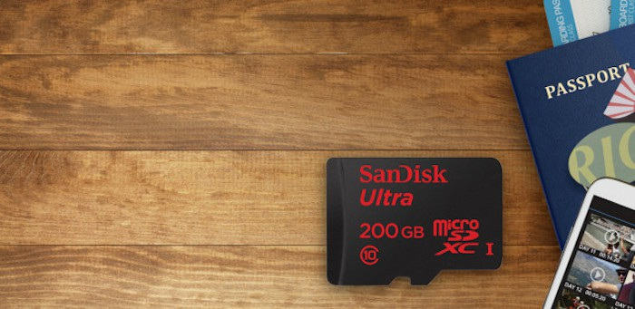 mwc 39 15 sandisk lance la premi re carte micro sd de 200 go. Black Bedroom Furniture Sets. Home Design Ideas