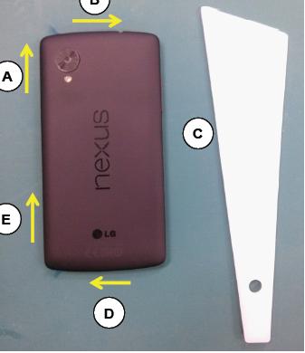 Vue de dos du présupposé Nexus 5