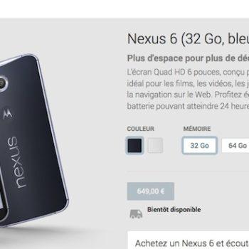 Nexus 6 : le smartphone se retrouve sur le Google Play Store