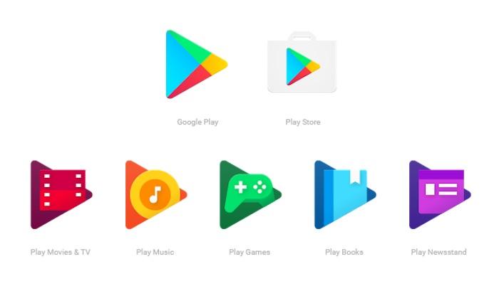 Google Play : nouvelles icônes