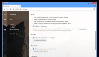 Opera intègre nativement un VPN au sein de son navigateur