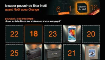 Orange fait son calendrier de l'avent
