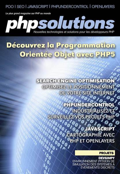 PHP Solutions - Décembre 2011 - Découvrez la POO avec PHP5