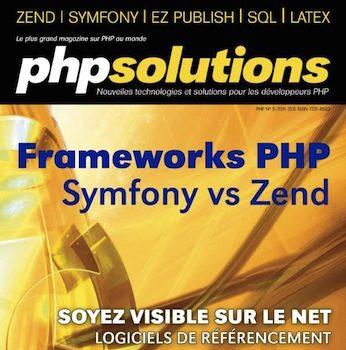PHP Solutions : Juin 2011 – Frameworks en PHP – Publication sur le Framework