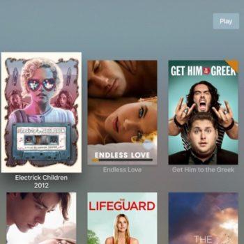 Plex sur Apple TV : vue des films