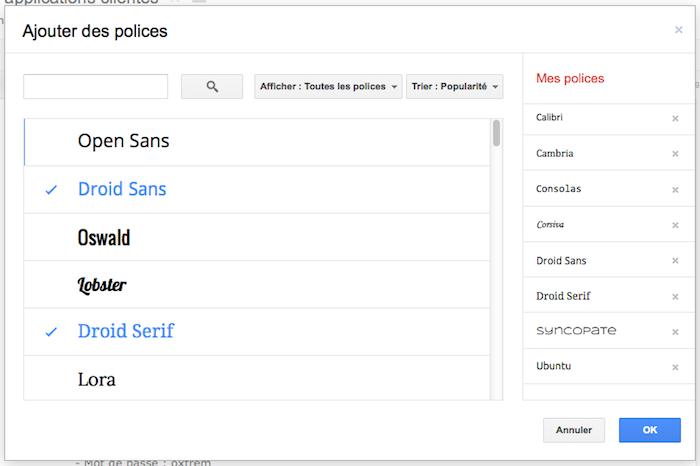 Plus de 450 polices, 60 modèles et un meilleur support des images arrivent dans Google Docs